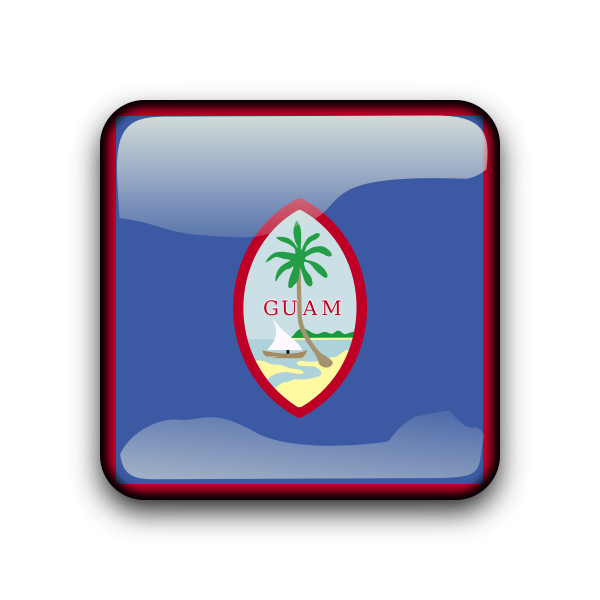 Guam flag vector button