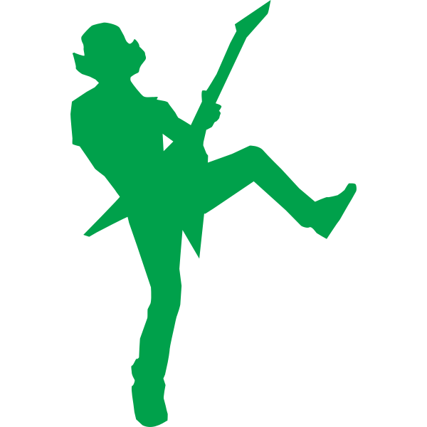 Silhouette of guitar hero vector illustration
