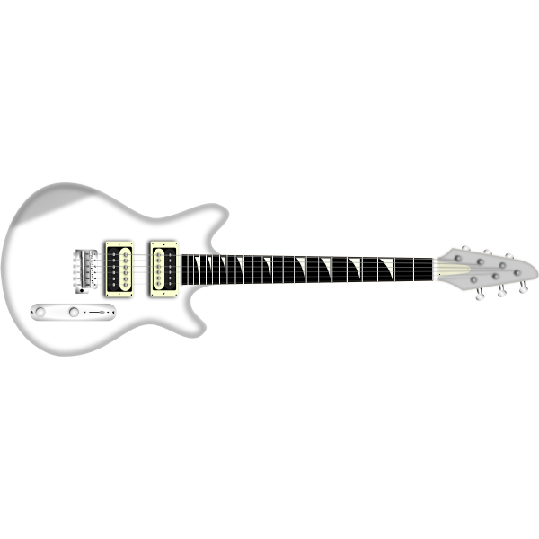 Vector image of electric guitar