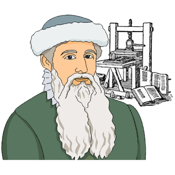 Johannes Gutenberg vector image