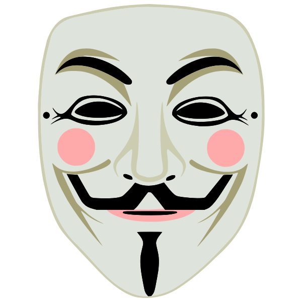 Guy Fawkes mask - anonymous - color