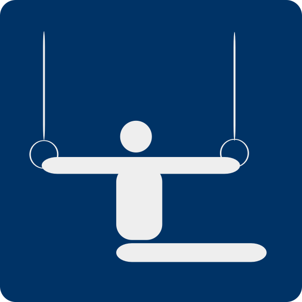 Vector image of gymnastics pictogram