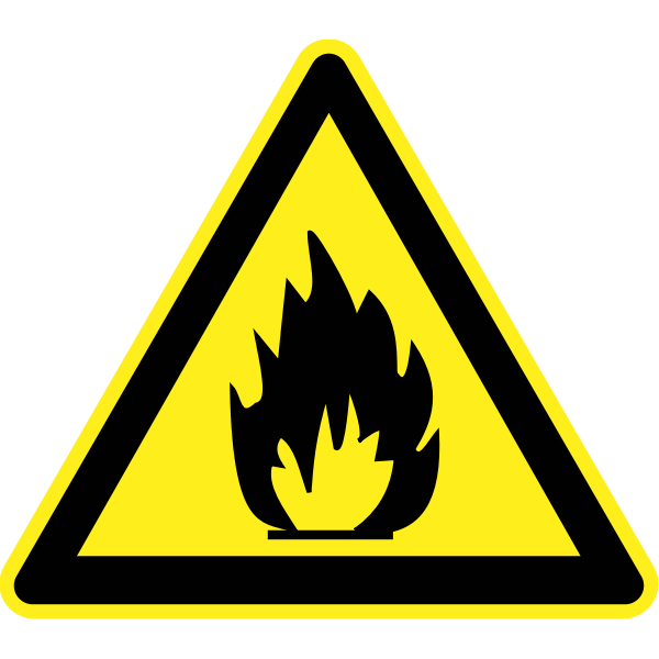 Fire hazard warning sign vector image