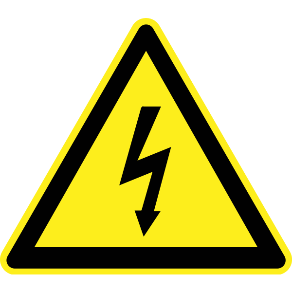 Electricity hazard warning sign vector image