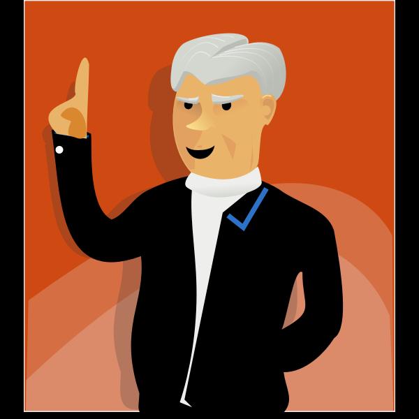 Speaking man vector image