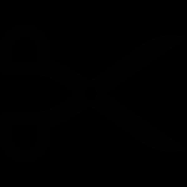 Hairdresser icon silhouette