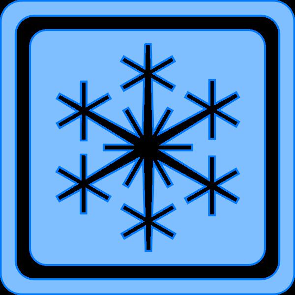 Winter season sign vector image