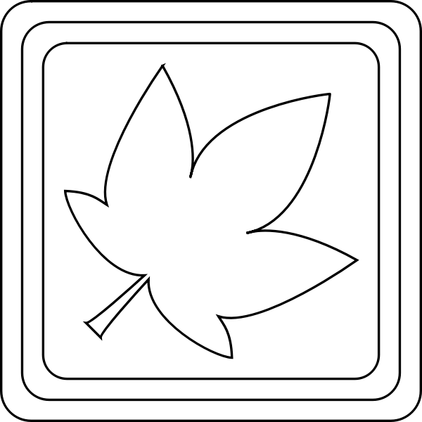 Coloring book leaf vector image