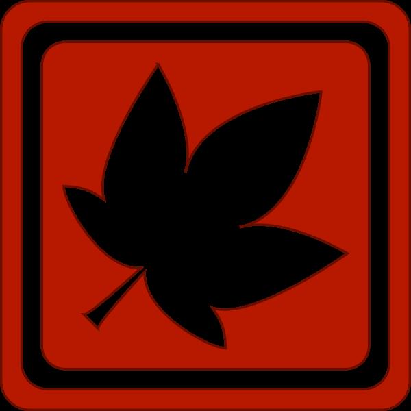 Red leaf vector image