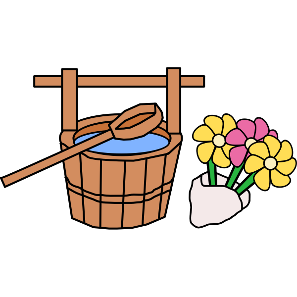 Bucket and Flowers