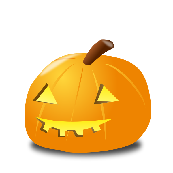 Halloween pumpkin with light vector drawing