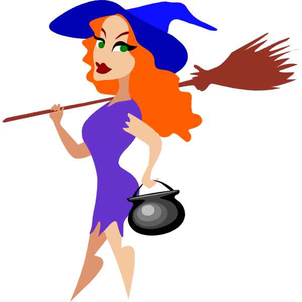 Trendy witch vector image