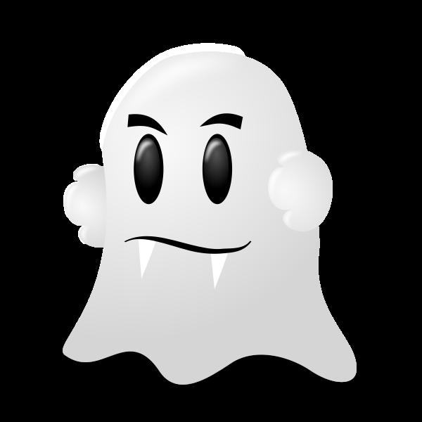 White Halloween ghost vector illustration