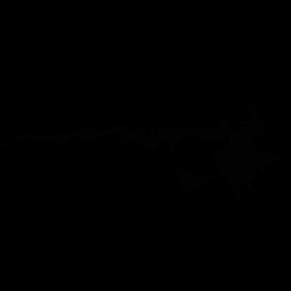 Flying witch Halloween banner vector clip art