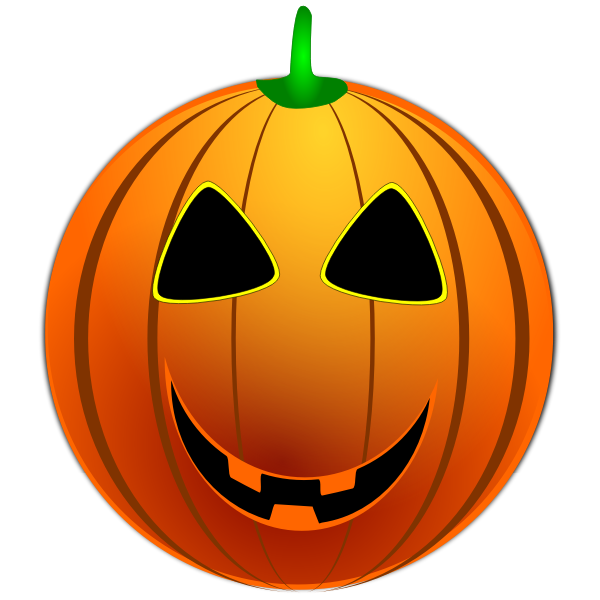 Color Halloween emoticon vector clip art