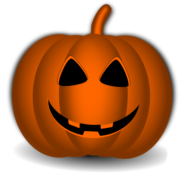 Happy Halloween pumpkin vector graphics