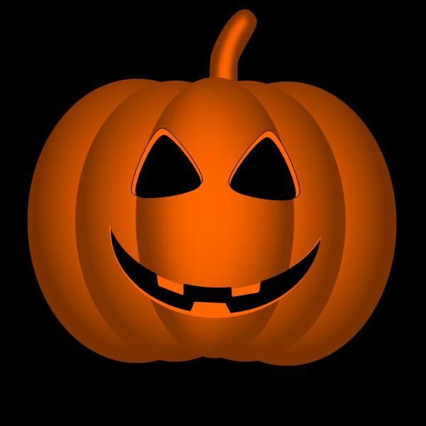 Happy Halloween pumpkin vector graphics