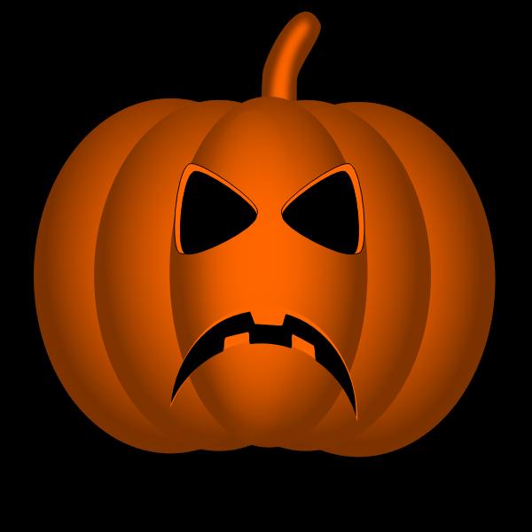 Angry Halloween pumpkin vector illustration