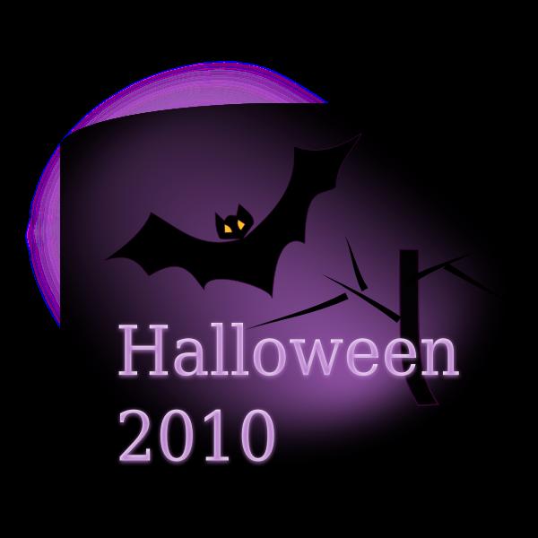 Halloween promo poster vector clip art