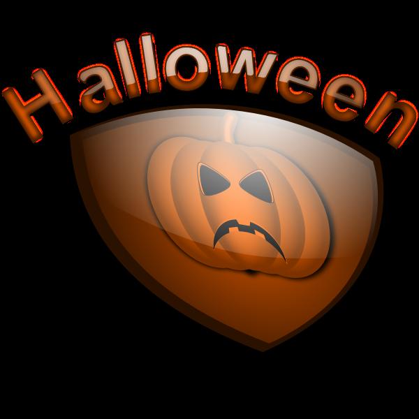 Halloween shield vectior drawing