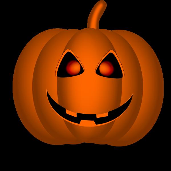 Orange Halloween pumpkin vector clip art