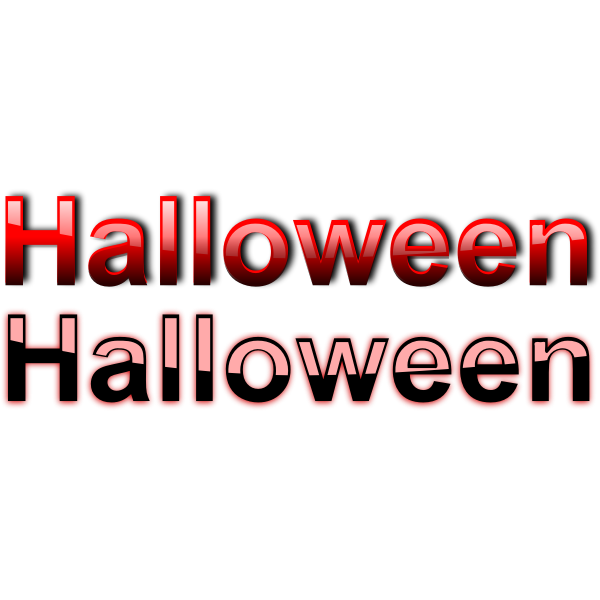 Clean Halloween typography vector drawing