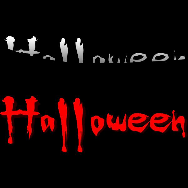 Scary Halloween typography vector illustration