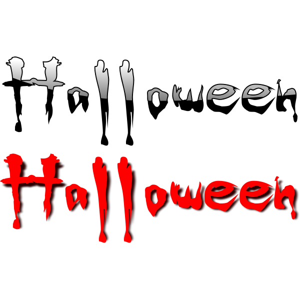 Scary Halloween typography vector illustration