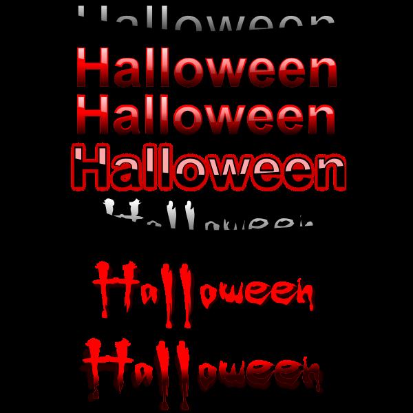 Halloween typography selection vector image