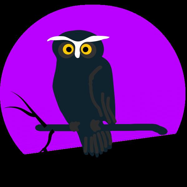 Halloween owl vector clip art