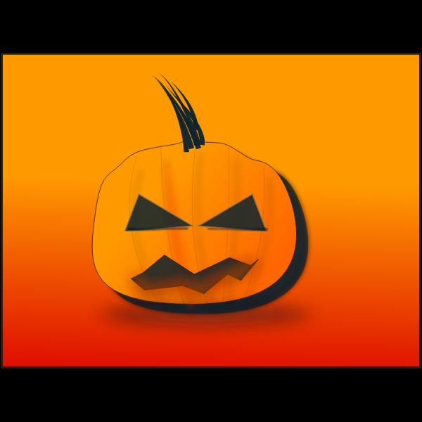 Halloween pumpkin on orange background vector graphics