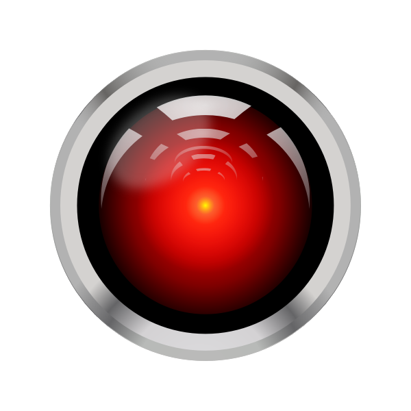 Vector illustration of HAL9000