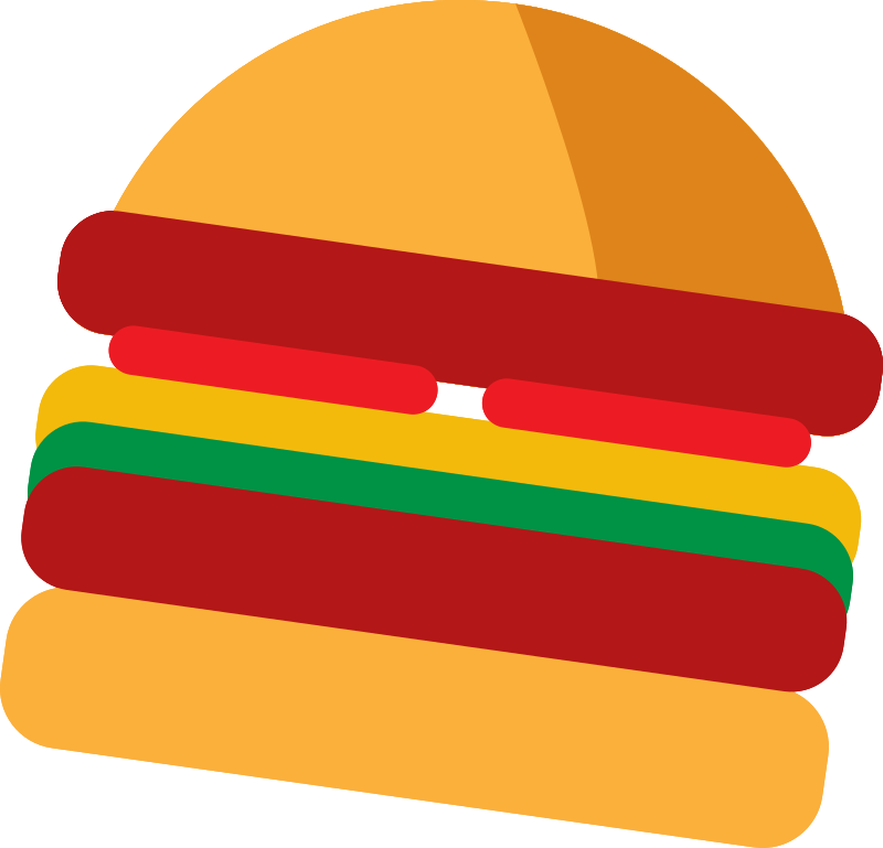 Hamburger explode view vector image