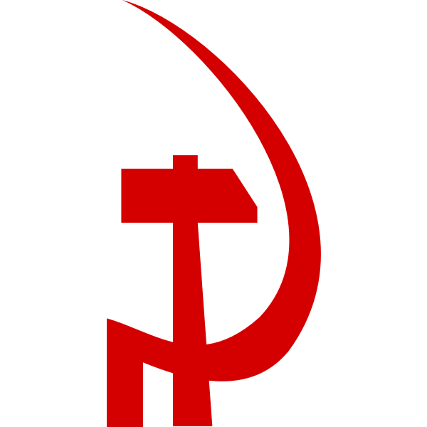 Communism party sign vector image