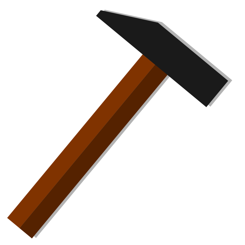 Hammer icon vector drawing