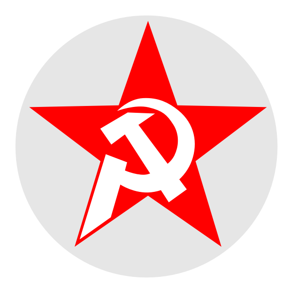 Hammer and Sickle in Star and Circle