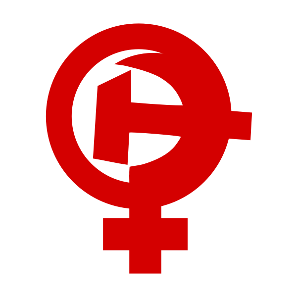 Feminism, hammer and sickle