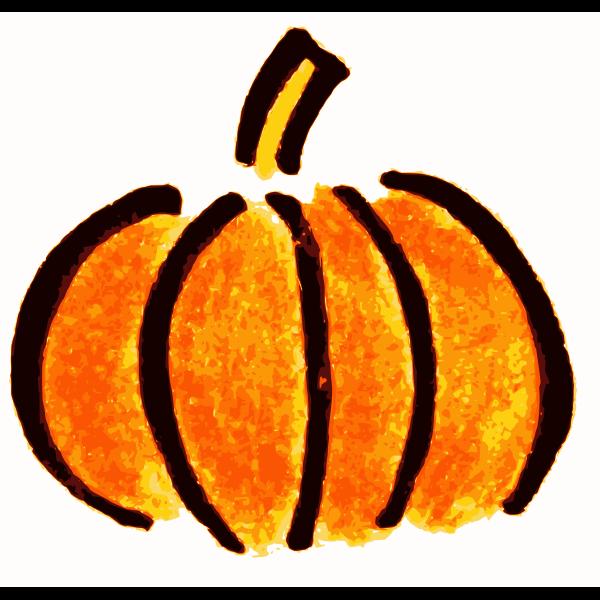 Plain black and orange pumpkin vector image