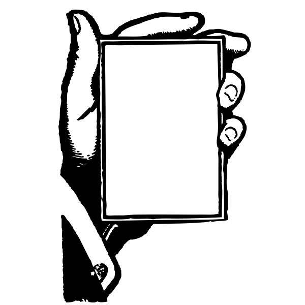 Vector illustration hand holding a blank card