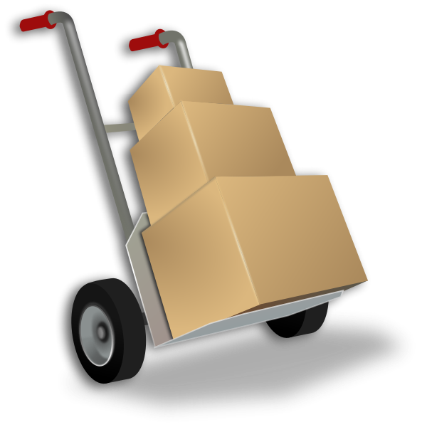 Hand Truck Vector Graphics