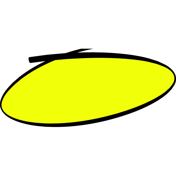 Handwritten circle in yellow color