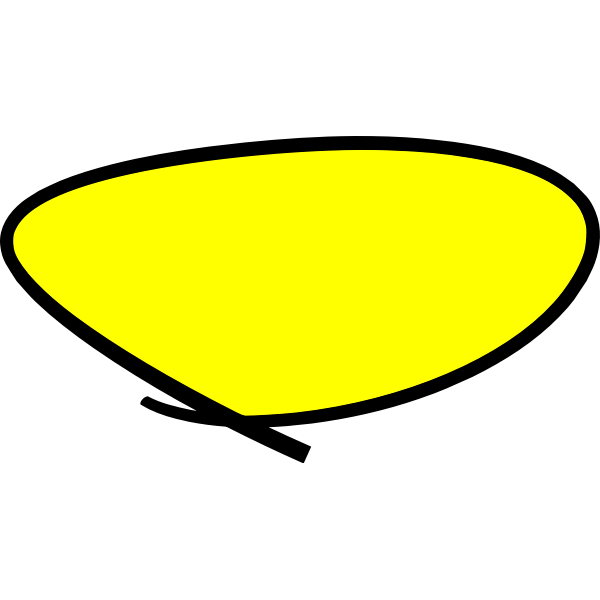 Yellow circle handwritten