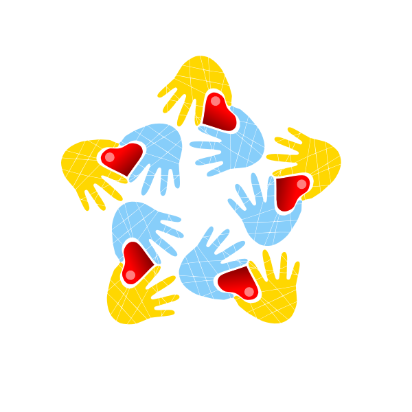Hands forming hearts