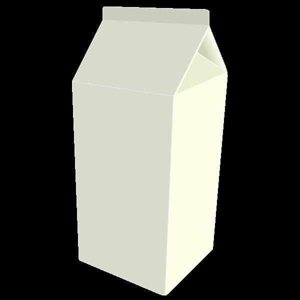 Vector graphics of milk carton box