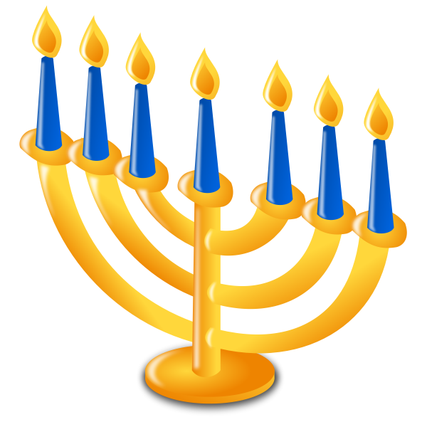Vector illustration of Hanukkah candles