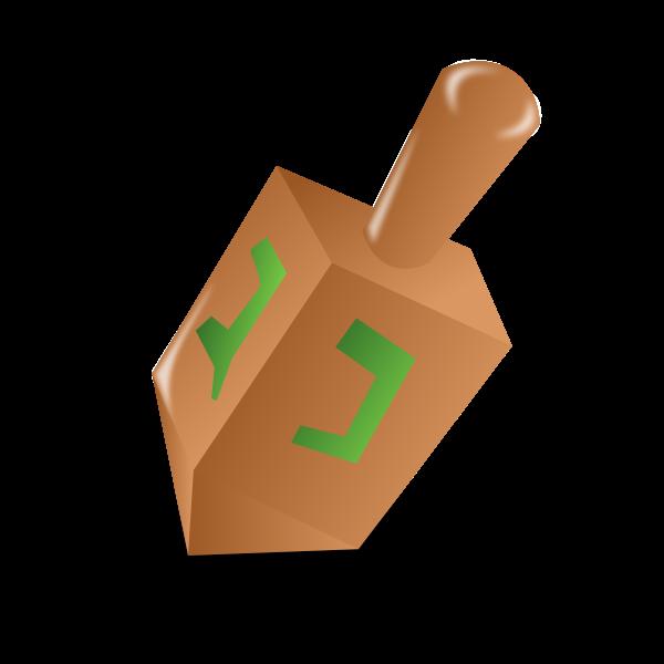 Hannukah dreidel vector illustration