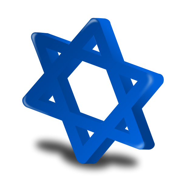 3D vector of Star of David