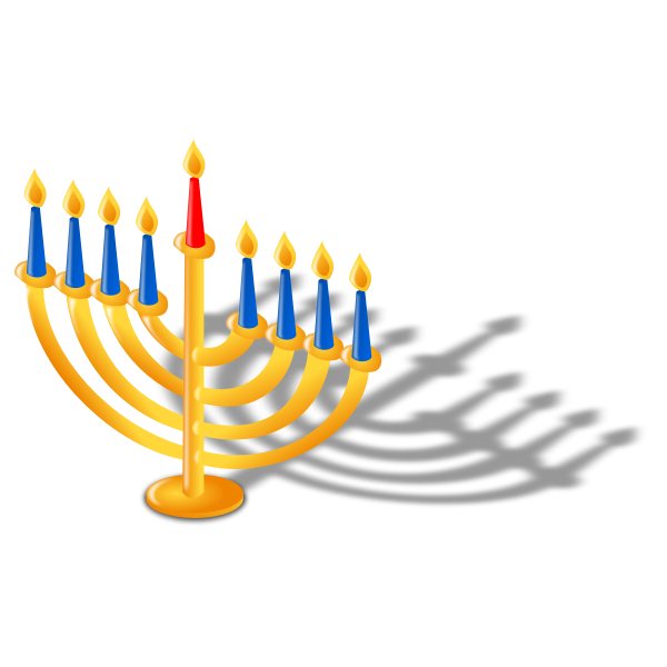 Vector graphics of candles for Hanukkah