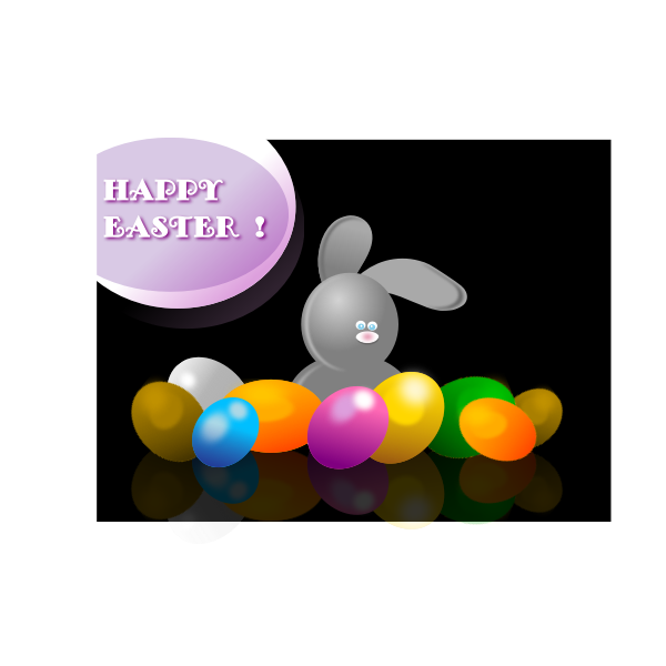 Vector drawing of Easter poster