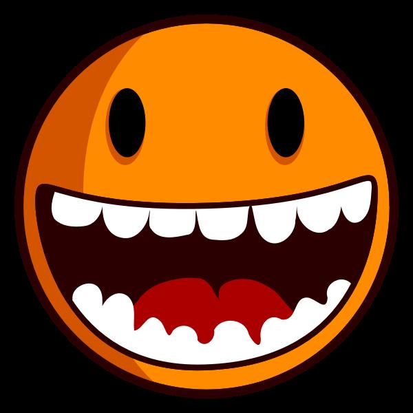 Vector clip art of happy smiley with big teeth